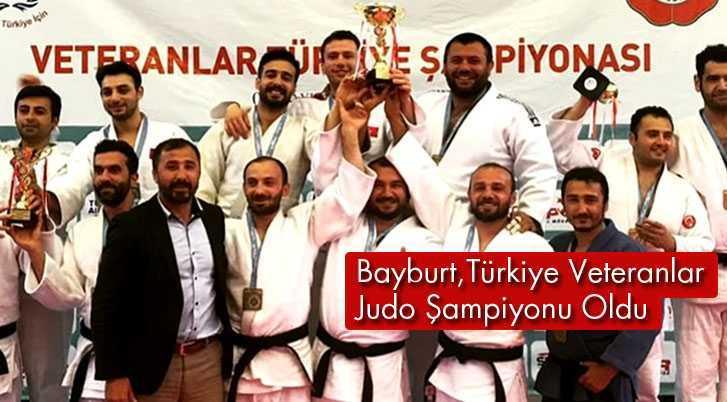 Bayburt Türkiye Veteranlar Judo Şampiyonu Oldu