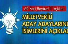 AK Parti, Bayburt Milletvekili Aday Adaylarını Açıkladı