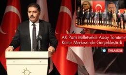 AK Parti, Bayburt Milletvekili Adayı'nı Kültür Merkezinde Tanıttı