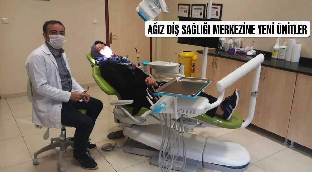 Ağız Diş Sağlığı Merkezine Yeni Ünitler