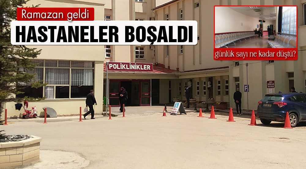 Bayburt'ta, Ramazanla Birlikte Hastaneye Müracaat Sayısı Düştü