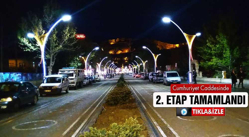 Bayburt'ta Cumhuriyet Caddesinin 2. Etabı Tamamlandı