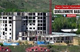 Bayburt'ta Yeni Devlet Hastanesi İnşaatı Şekillenmeye Başladı