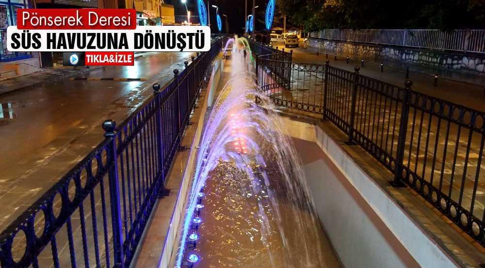 Bayburt'ta Pönserek Deresi Süs Havuzuna Dönüştürüldü