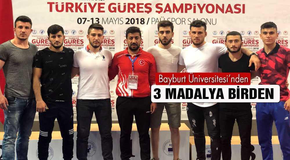 Bayburt Üniversitesi'nden 3 Madalya Birden