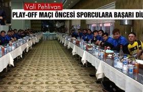 Vali Pehlivan, Bayburt Grup'un Sporcularına Başarı Diledi