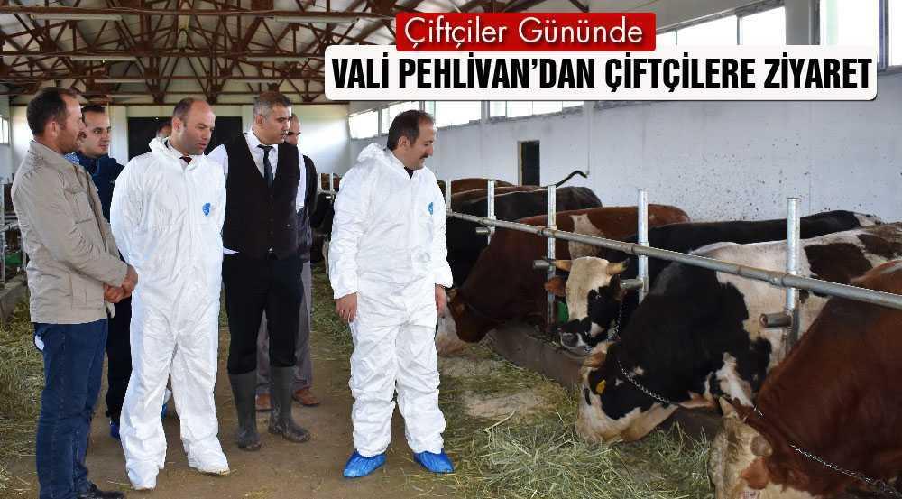 Vali Pehlivan'dan,Çiftçiler Gününde Ziyaretler Gerçekleştirdi