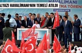 Başbakan Binali Yıldırım, Salyazı Havalimanı'nın Temeli Attı
