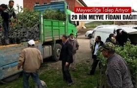 Bayburt'ta 20 Bin Meyve Fidanı Dağıtıldı