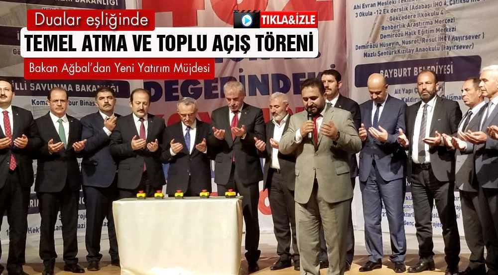 Bakan Ağbal,Toplu Açılış Töreninde Önemli Açıklamalar Yaptı