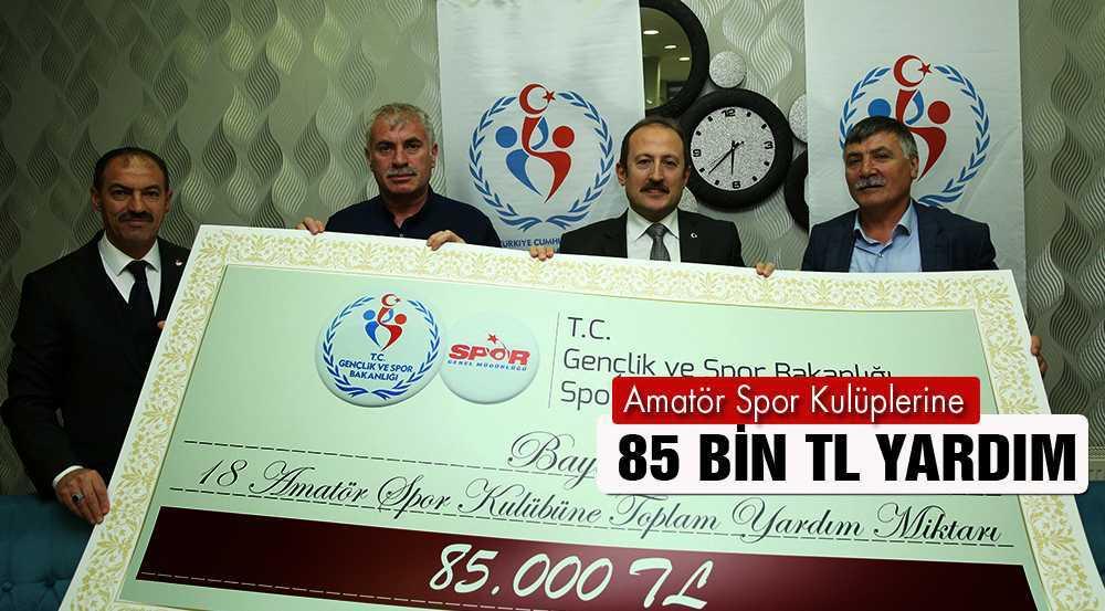 Bayburt'ta Amatör Spor Kulüplerine 85 Bin TL Yardım