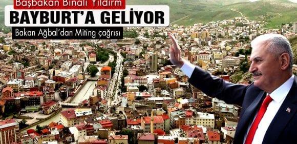 Başbakan Binali Yıldırım Bayburt'a Geliyor