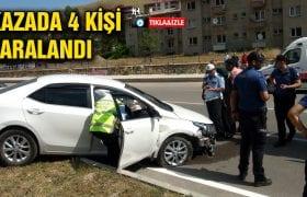 Bayburt'ta Meydana Gelen Kazada 4 Kişi Yaralandı