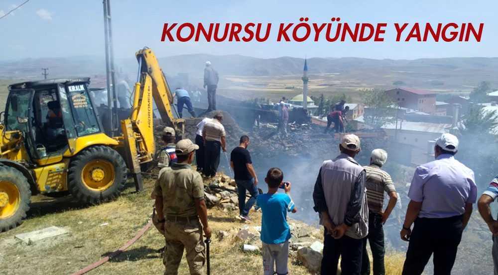 Konursu Köyünde Çıkan Yangın Büyümeden Söndürüldü