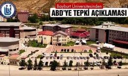 Bayburt Üniversitesinden ABD'ye Tepki