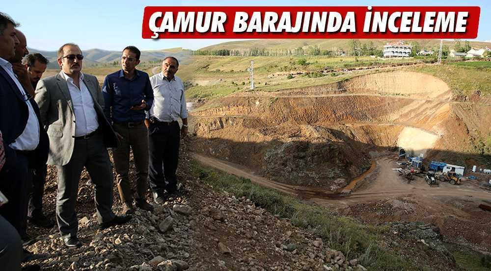 Çamur Barajı İnşaatında İnceleme Yapıldı