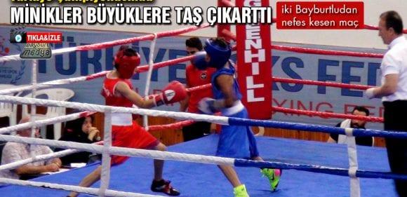 Alt Minikler Türkiye Ferdi Boks Şampiyonası Bayburt'ta Sona Erdi