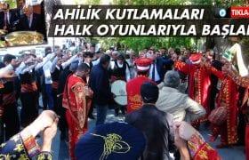 Bayburt'ta Ahilik Haftası Halk Oyunları Gösterileriyle Başladı