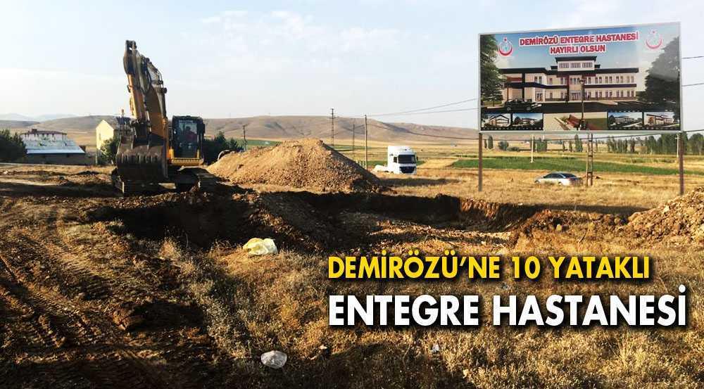 Demirözü'nde Entegre Hastanesi Yapımına Başlandı