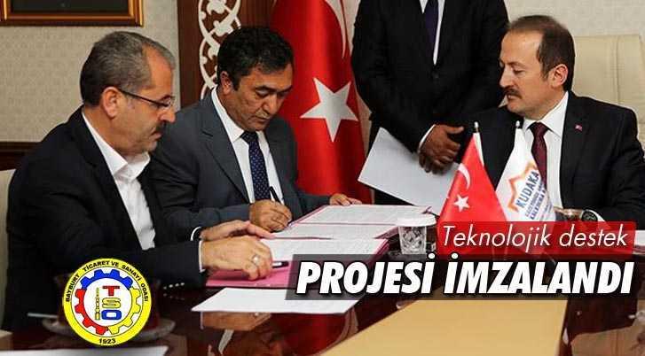 Bayburt Doğaltaş Fabrikasına Teknolojik Destek Projesi İmzalandı