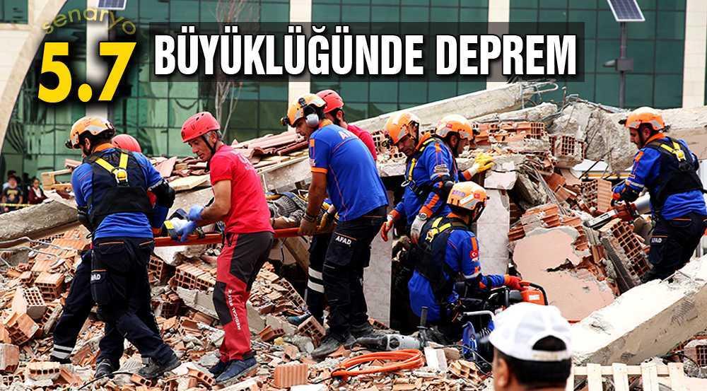 Bayburt'ta Gerçeğini Aratmayan Deprem Tatbikatı