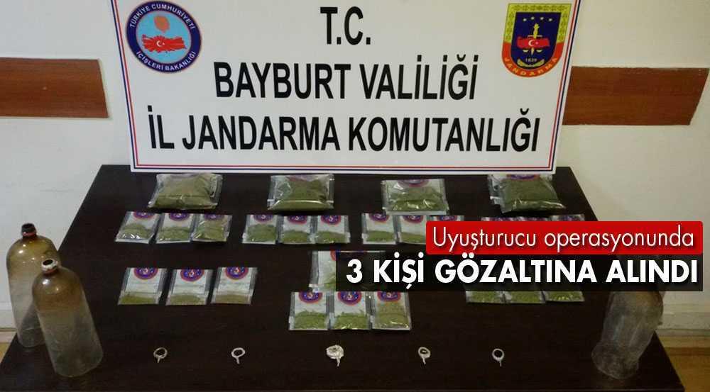 Bayburt'ta Uyuşturucu Operasyonunda 3 Kişi Gözaltına Alındı