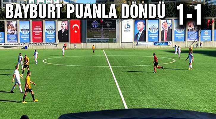 Bayburt İl Özel İdare Spor İstanbul'dan Namağlup Döndü