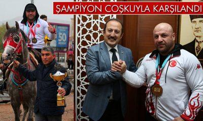 Dünya Şampiyonu Başaran, Memleketinde Coşkuyla Karşılandı