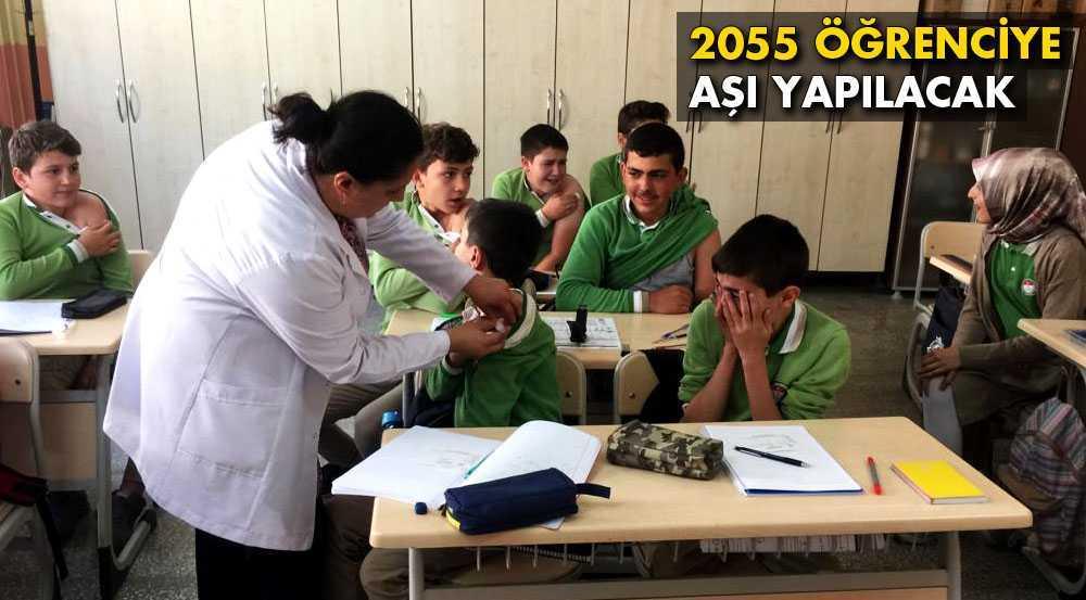 Bayburt'ta 2055 Öğrenci Aşılanacak