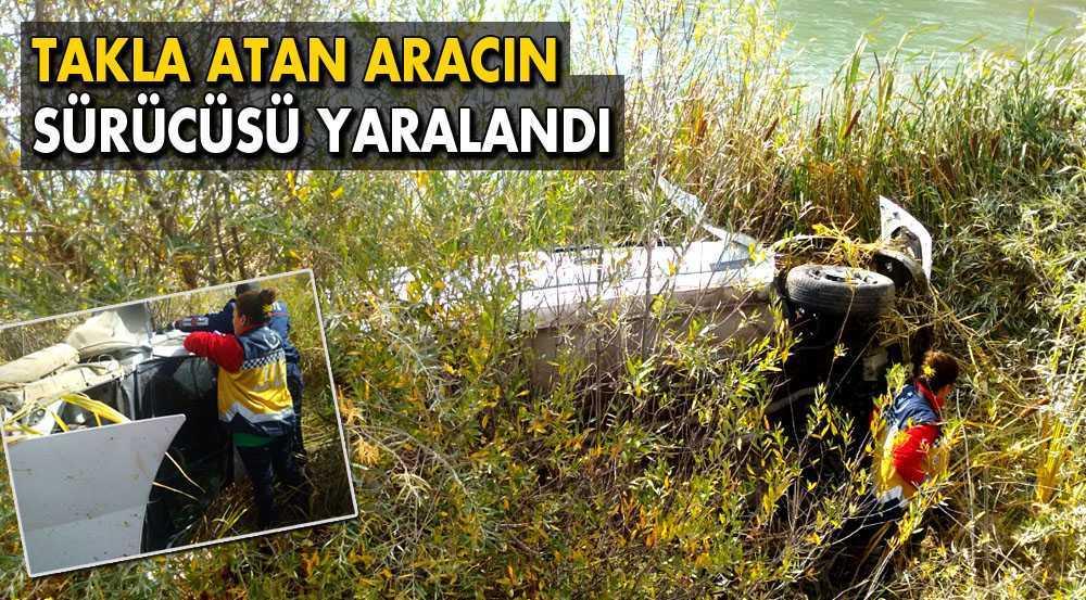 Bayburt'ta Takla Atan Aracın Sürücüsü Yaralandı