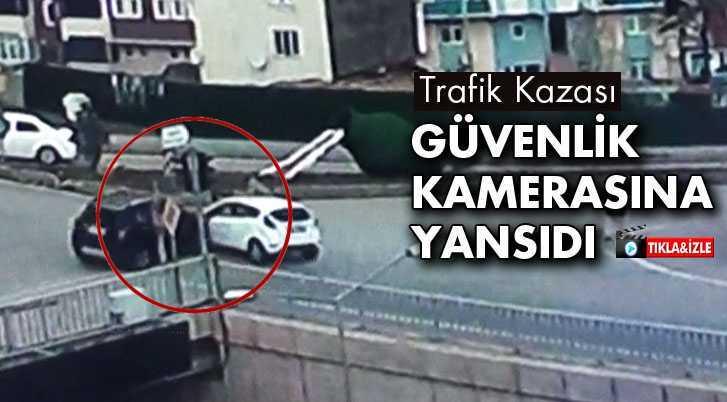 Bayburt'taki Kaza Anı Güvenlik Kamerasına Yansıdı