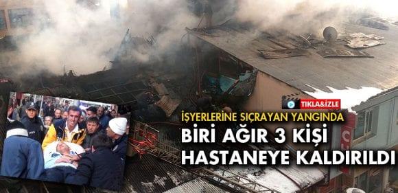 Bayburt'ta Çıkan Yangında Biri Ağır 3 Kişi Hastaneye Kaldırıldı