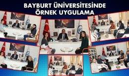Bayburt Üniversitesinden Örnek Bir Uygulama…