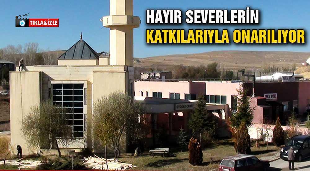 Bayburt'ta Otogar Camii Hayır Severlerin Katkısıyla Onarılıyor