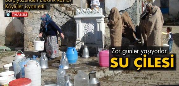 Konursu Köyünde Elektrik Kesildi Su Çilesi Başladı