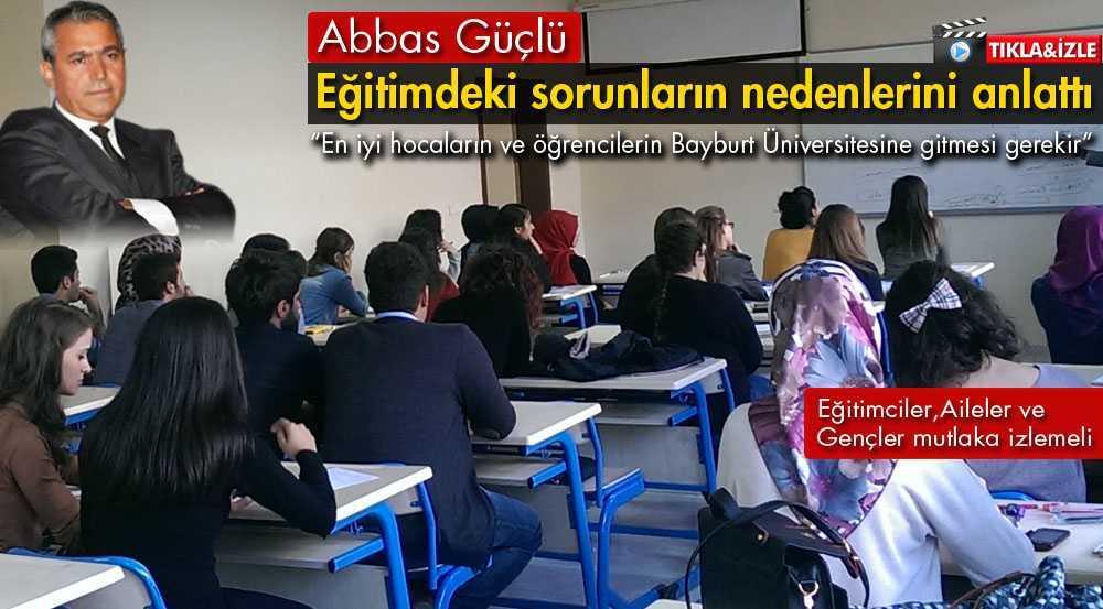 Abbas Güçlü, Eğitimcilere – Ailelere ve Gençlere Seslendi