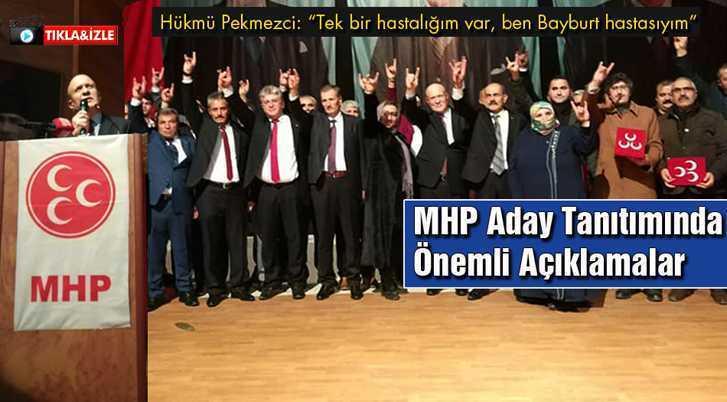 MHP Bayburt'ta Başkan Adayları Tanıtım Programı Düzenledi