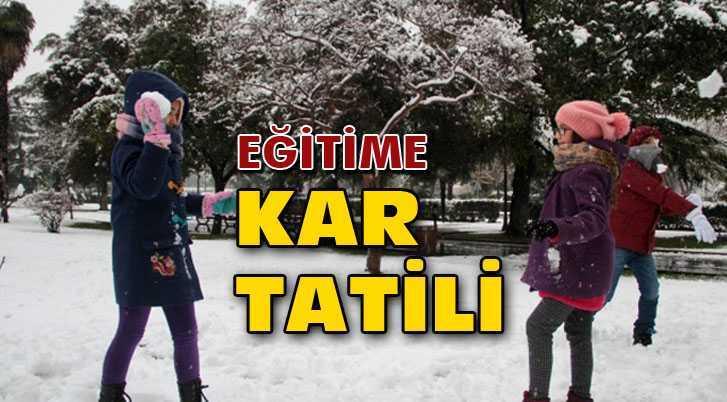 Bayburt'ta Okullara Kar Tatili!