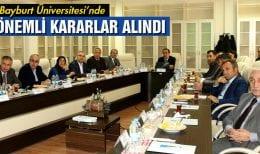 Bayburt Üniversitesi Danışma Kurulu Önemli Kararlar Aldı