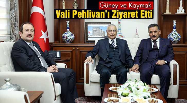 Ülkü Güney ve Osman Kaymak, Vali Pehlivan'ı Ziyaret Etti