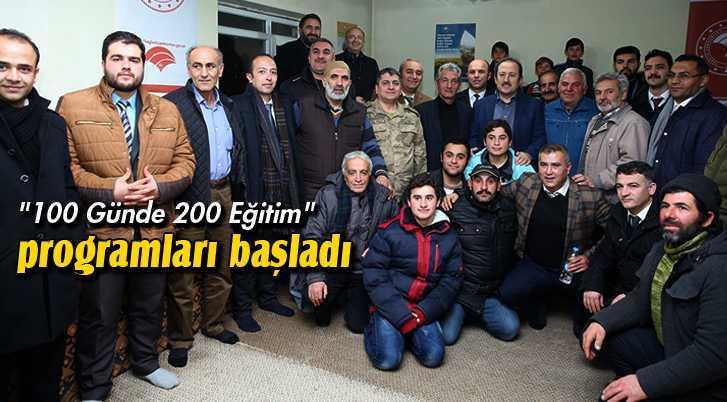 """Bayburt'ta """"100 Günde 200 Eğitim"""" Programları Başladı"""