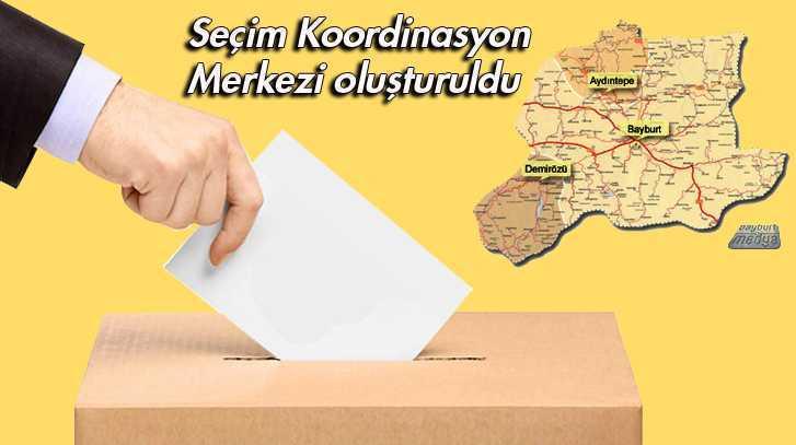 Bayburt'ta Seçim Koordinasyon Merkezi Oluşturuldu