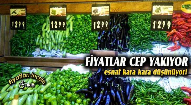Bayburt'ta Meyve ve Sebze Fiyatları Tavan Yaptı