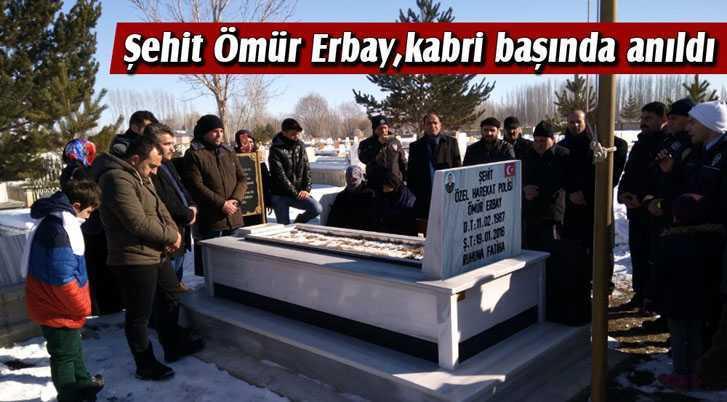 Bayburtlu Şehit Ömür Erbay, Kabri Başında Anıldı