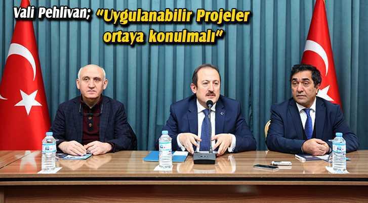 """Vali Pehlivan,""""Uygulanabilir Projeler Ortaya Konulmalı"""""""