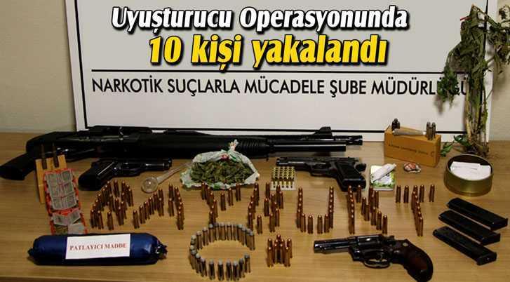 Uyuşturucu Operasyonunda 10 Kişi Yakalandı