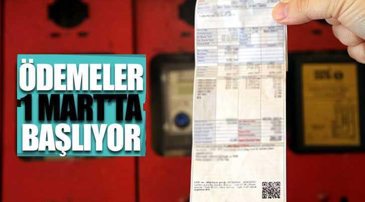 Elektrik Desteği Ödemeleri 1 Mart İtibari İle Başlıyor