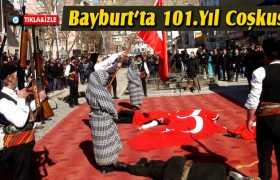 Bayburt'ta 101. Kurtuluş Yıl Dönümü Coşkusu