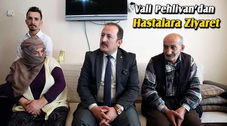 Vali Pehlivan, Evde Bakım Hizmeti Alan Hastaları Ziyaret Etti
