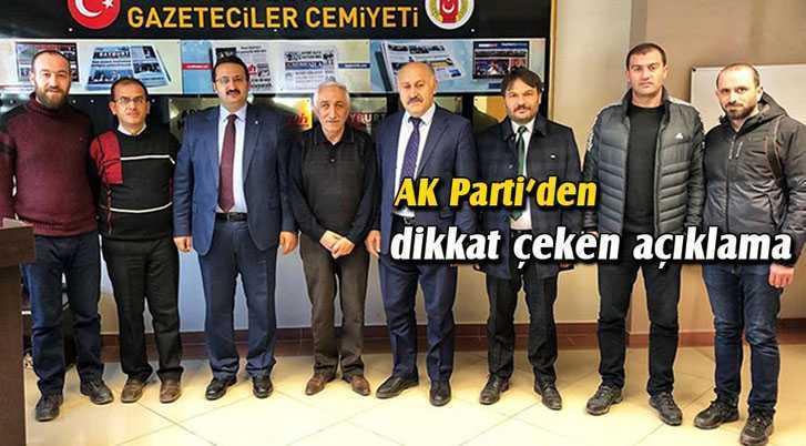 AK Parti'den Dikkat Çeken Belediye Açıklaması